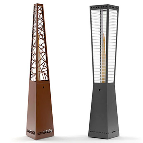 Pyrolytic patio heater